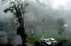 В Татарстане ветром сорвало крыши с домов и вырвало деревья с корнем